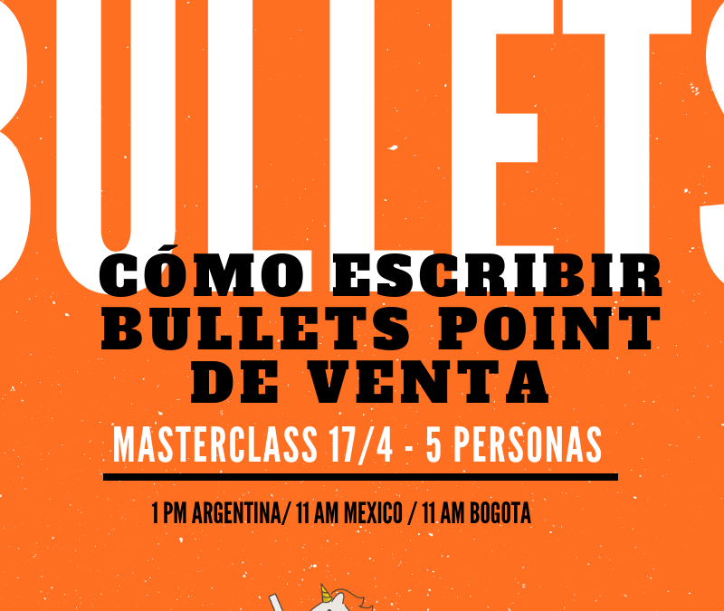 Copywriting: ¿Qué son «bullet points» de venta?